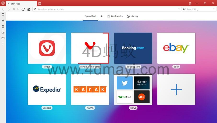 Vivaldi 2.6.1566.49 极客浏览器官方正式版下载