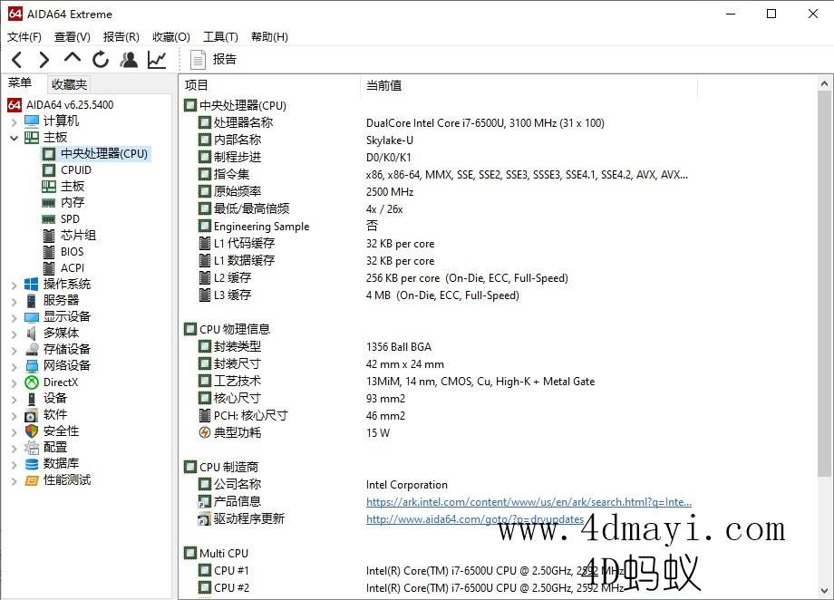 电脑硬件信息检测工具 AIDA64 Extreme 6.25.5400 简体中文绿色版