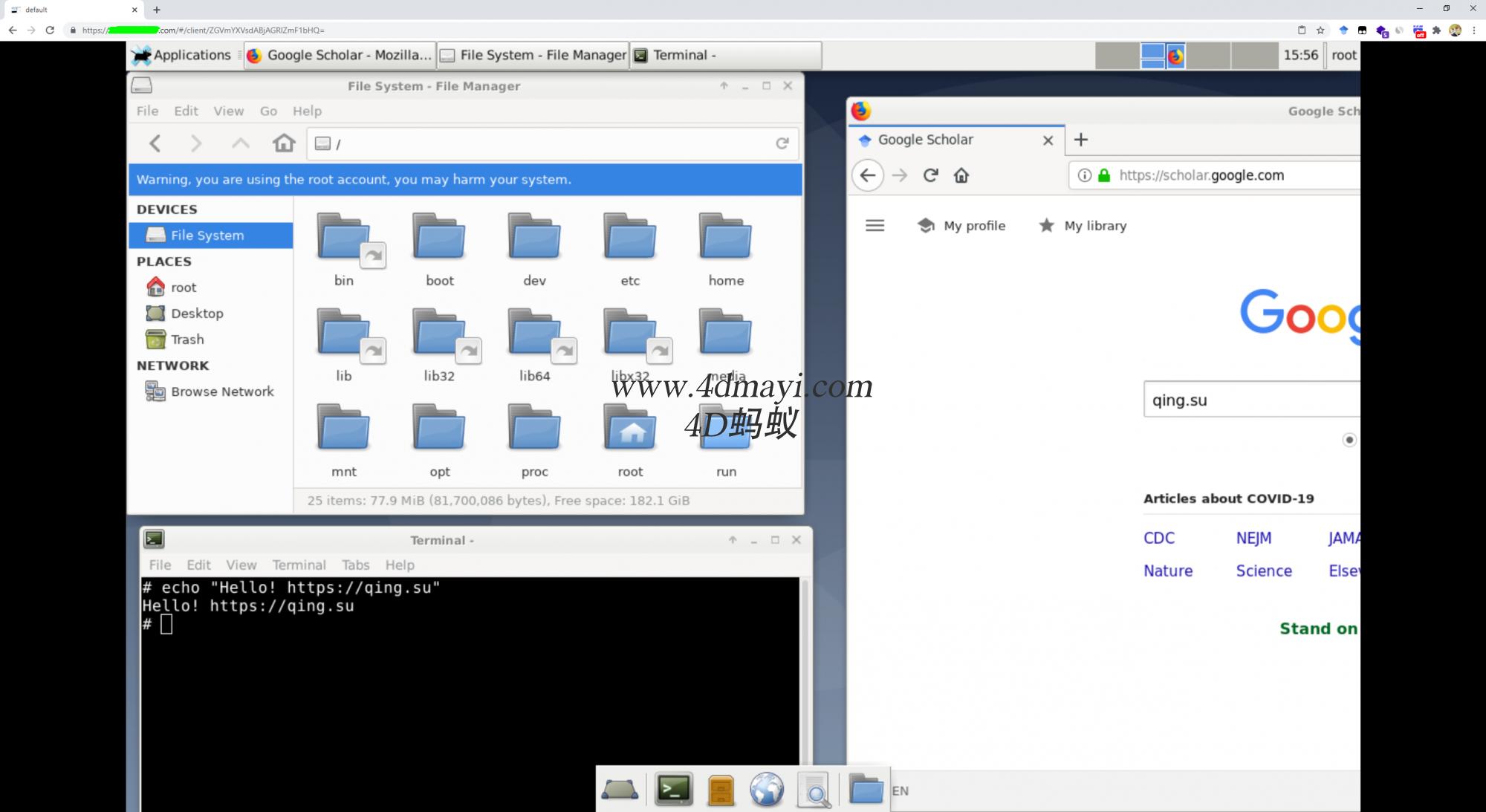 Linux一键远程桌面可浏览器访问[支持复制粘贴和中文显示]