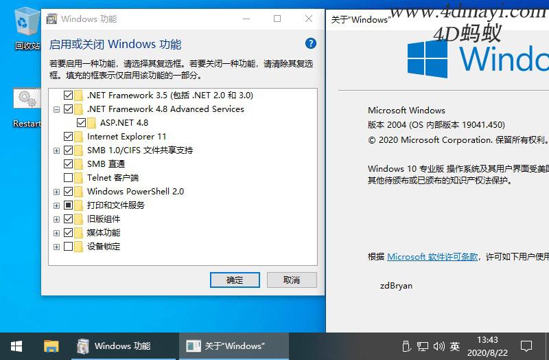 Windows 10 v2004.19041.450 精简专业版 【老毛子版】