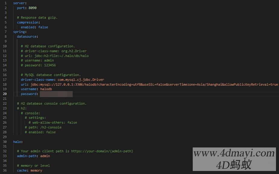 Java开发的开源博客内容管理系统 Halo 安装部署教程