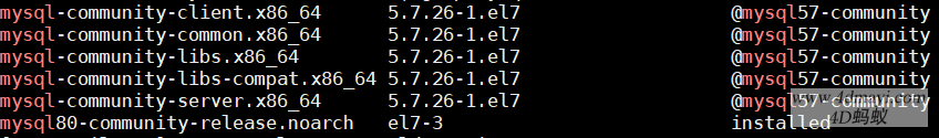 centos 7.x 彻底卸载删除MySQL