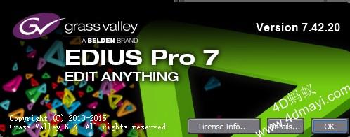 非线性视频编辑工具 GrassValley EDIUS Pro 7.5 中文注册版-4D蚂蚁